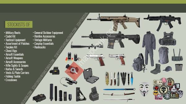 Staffordshire Militaria - UK Airsoft Shop - Stoke-on-Trent